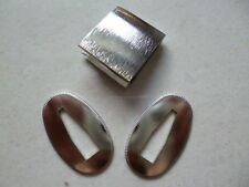 Surface silver 2 X SEPPA + HABAKI FOR JAPANESE SWORD