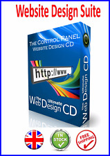 WEB WEBSITE  DESIGN PRO CD CSS HTML EDITOR FRONTPAGE DREAMWEAVER ALTERNATIVE