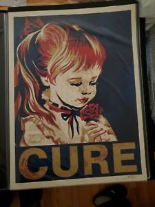 ORIGINAL SHEPARD FAIREY CURE PRINT SIGNED LIMITED EDITION Of 200 COA FROM JDRF