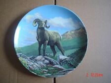 Dominion China Ltd Collector Plate THE BIGHORN SHEEP From CANADAS BIG GAME