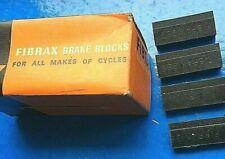 NEW OLD STOCK 4 X VINTAGE FIBRAX No.269 BRAKE BLOCKS,FOR RALEIGH CHOPPER ETC