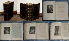 BIBEL VON 1854 BIBLIA HEILIGE SCHRIFT ECHT LEDER PRACHTAUSGABE 52 STAHLSTICHE