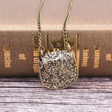 fashion style bag shape carved bronze pendant long necklacechain sweater chain3C