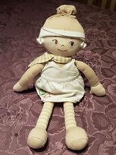 Doudou Grande Poupée Chiffon Corolle et Nature Rag Doll Y4734 43cm Marron Blanc
