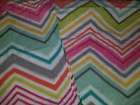 Girls Pottery Barn PB TEEN Chevron Duvet Cover & Pillow Sham Full/Queen