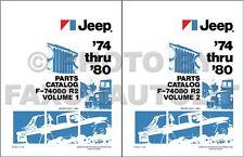 Jeep Parts Book 1980 1979 1978 1977 1976 1975 1974 CJ Pickup Wagoneer Cherokee