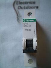 CRABTREE 16 AMP TYPE B 6KA MCB CIRCUIT BREAKER STARBREAKER 61/B16 BS EN 60898