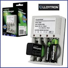 Rechargeable Plug-In Mains Battery Charger Home AA/AAA/9V/PP3 Lloytron Ni-Mh UK