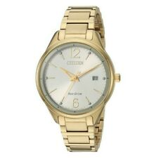 Citizen Eco-Drive Women's Chandler Crystals Gold-Tone 37mm Watch FE6102-53A