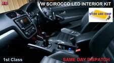 VW SCIROCCO III MK3 FULL INTERIOR 9 LED LIGHT BULBS KIT REPLACEMENT HI POWER