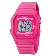 LIQUIDATION SALE! Timex Pink Jumbo Digital $65 Retail Indiglo Watch T2N246 BNIB
