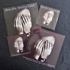"ELTON JOHN Healing Hands ORIGINAL & CHARITY PRESS VINYL 2 x 12"" & 2 x 7"""