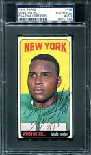 1965 Topps #116 Winston Hill PSA/DNA Rookie AUTO Autograph Signed