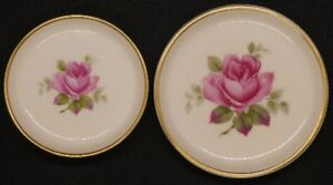 Two Rosenthal Selb-Plossberg miniature plates with rose design