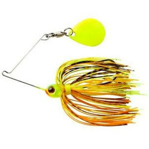 Booyah Micro Pond Spinnerbait, 1/8 oz - Pumpkin Seed, fishing lure