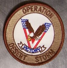 Embroidered Military Patch Operation Desert Storm Victory NEW