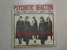 """COUNT FIVE: Psychotic Reaction-They're Gonna Get You-Italy 7"""" 66 SIR 20-036 PSL"""
