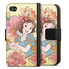 Apple iPhone 4 Tasche Hülle Flip Case - Snow White royal floral