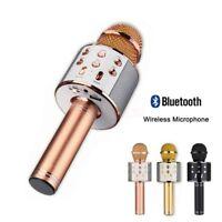 Wireless Bluetooth Karaoke KTV Microphone Speaker Stereo Singing Player US