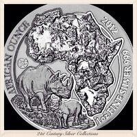 Flawless 2012 Rwanda Rhino 1 oz Silver Coin