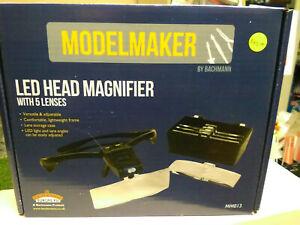 Bachmann Model Maker MM013 LED Head Magnifier with 5 lenses BNIB