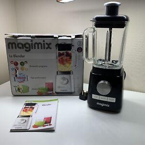 MAGIMIX Blender 1200W 4-in-1 Blender 1.8L Glass Jug, 8 Speeds, Quiet Mark Black