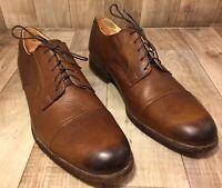 Frye Harvey Cap Toe Oxfords Brown Leather Men's 10.5 D 84466