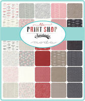 "Moda The Print Shop 5"" Charm Pack Fabric Quilting Squares 5740PP, SQ05"