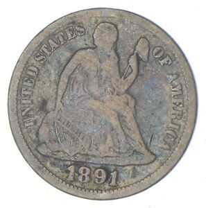 Historic 1891 Seated Liberty Dime *922