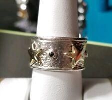 Estrecho anillo de mujer con circonita real Sterling plata 925 fina
