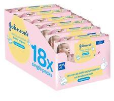 Johnson'S BABY EXTRA DELICATO PROFUMO libero SALVIETTE Johnsons fazzolettini umidi 18 Pack