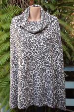 Crossroads ANIMAL Print Poncho Top Size L/XL-20/22/24 NEW RRP $49.99 COWL NECK