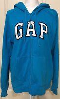 Women's Gap size XL blue athletic zip up hoodie sweatshirt jacket