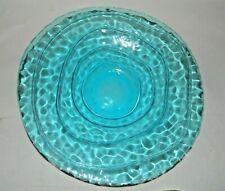 Blue Art Glass Server/Bowl, Unknown Maker