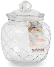Sabichi 1.4 Lire Glass Storage Jar Candy Jar with Air Tight Lid