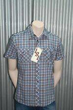 191 Unlimited S/S Blue Plaid Button-Up Woven NWT XL