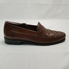 Brass Boot Napoli Brown Leather slip-on Loafers 93369 Size 11 M