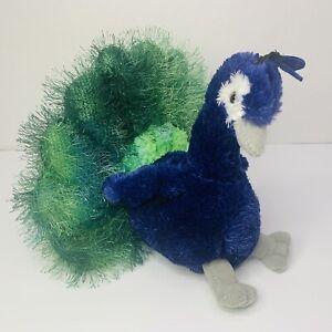 "Aurora Flopsies PERRY PEACOCK Stuffed Animal Plush Toy 8"""