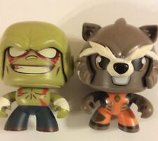 "Marvel Hasbro Mighty Muggs Rocket & Drax 3.75"" 3 Faces"