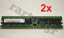 Matched Pair  HYNIX 2GB 2X1GB 1RX4 PC2-3200R-333-12 HYMP512R72BP4-E3 Server RAM