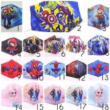 1Mascarilla tela niños Fornite Frozen Spiderman Mario Bros reutilizable, filtros