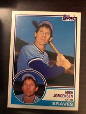 1983 Topps Traded Mike Jorgensen Atlanta Braves 51T