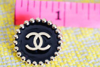 100% Authentic Chanel Button 25 mm 1 inch  logo cc 1 pieces 💙💙💙