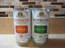 Kombucha Bottles - Gts Organic and Raw - Crafts . 2 cut bottles .