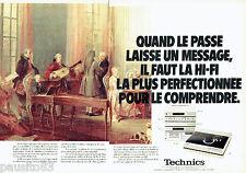 PUBLICITE ADVERTISING 036  1980  Technics  hi-fi (2p) musique classique