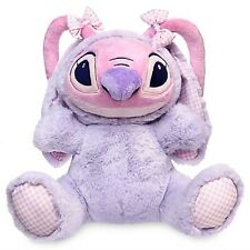 """LILO & STITCH ANGEL EASTER BUNNY PLUSH 10 1/2"""" NWT AUTHENTIC DISNEY STORE PATCH"""