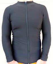 Men's Thermal, Front Zipper, Rash Guard, Long Sleeve, Sizes: Small-2XL, New