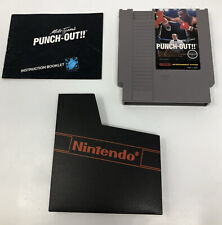 Mike Tyson's PUNCH-OUT!! Nintendo NES Cartridge Sleeve Manual TESTED XCLNT
