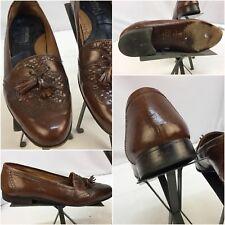 International Passport Shoes Sz 10.5 Brown Loafers Tassels Italy EUC YGI L7