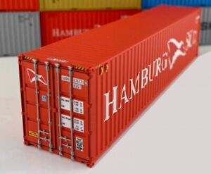 PT Trains 840007.3 HO 1:87 40HC 40ft Shipping Container - Hamburg Sud #5757212